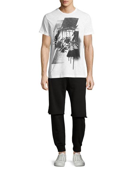 Double-Layer Jogger Pants, Black