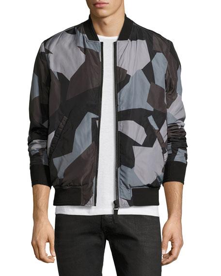 Diesel Geo-Print Bomber Jacket, Black