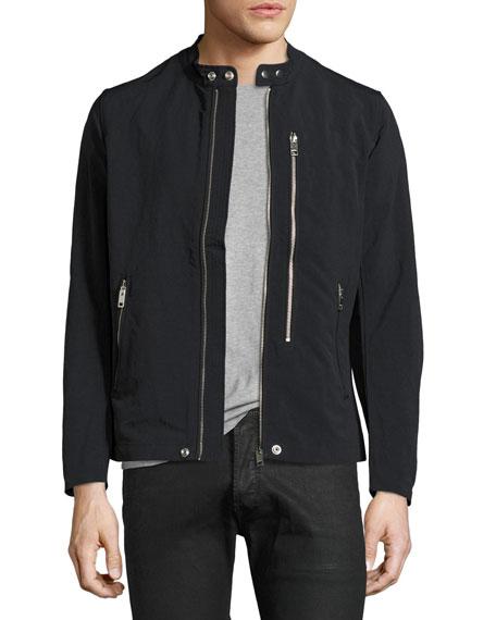 Diesel Nylon Biker Jacket, Black