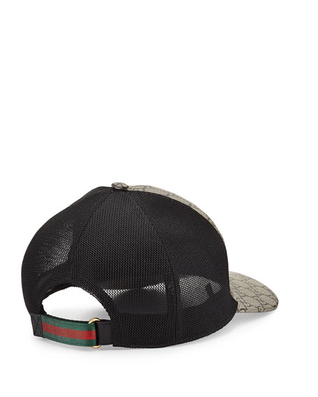 gucci tigers print gg supreme baseball hat brown black