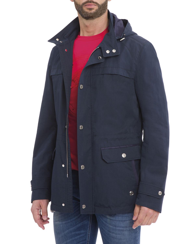 472ca8c7968d Stefano Ricci Hooded Wool-Silk Parka Jacket