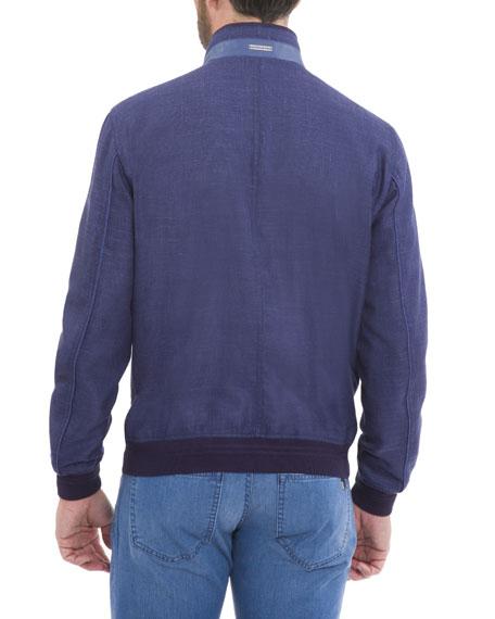 Wool-Blend Bomber Jacket, Navy