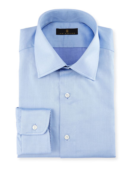 Ike Behar Gold Label Micro-Herringbone Dress Shirt, French