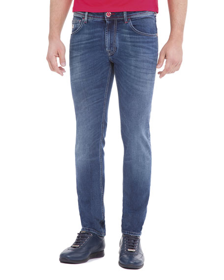 Stefano Ricci Hooded Parka, T-Shirt, & Jeans