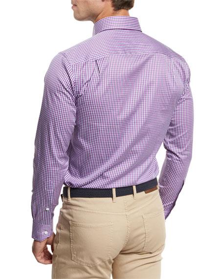 Horizon Check Sport Shirt, Lotus Blossom