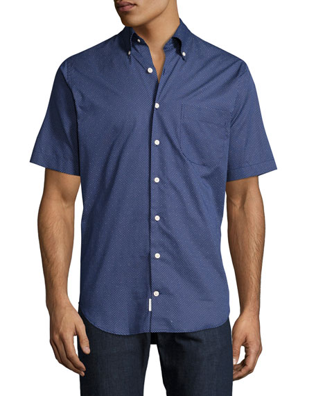 What Goes Up Short-Sleeve Shirt, Navy