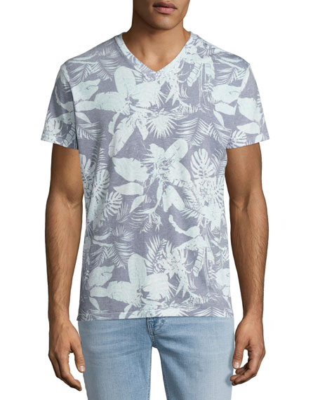 Sol angeles mystique tropical print v neck t shirt light for T shirt printing downtown los angeles