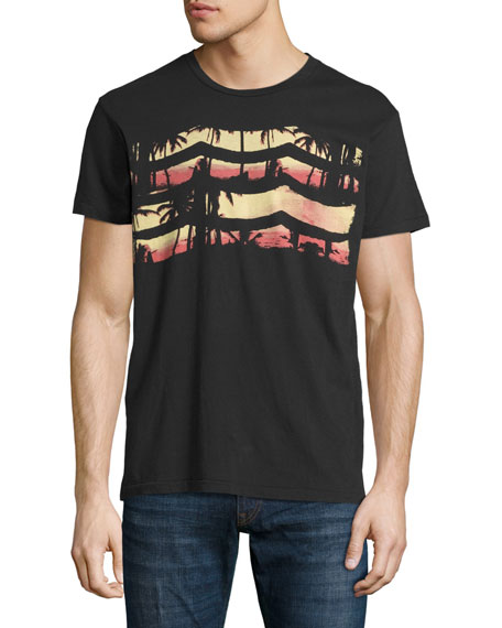 Sol angeles by the sea graphic t shirt black neiman marcus for T shirt printing downtown los angeles