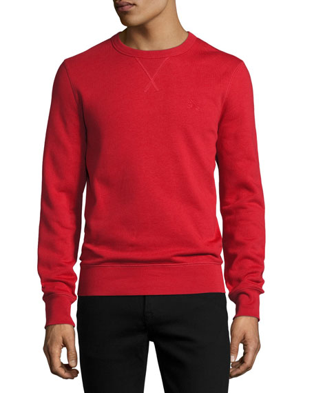 Burberry Colesden Cotton-Blend Jersey Sweatshirt, Red