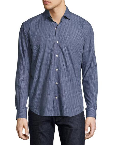 Culturata Sliced Dot Sport Shirt, Navy/White