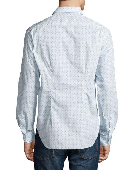 Circle-Print Sport Shirt, White