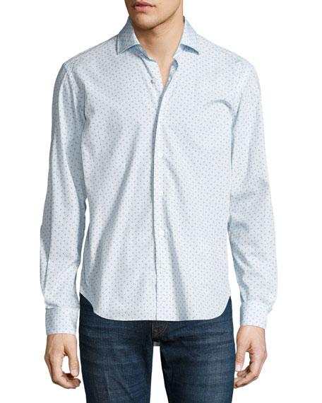 Culturata Circle-Print Sport Shirt, White
