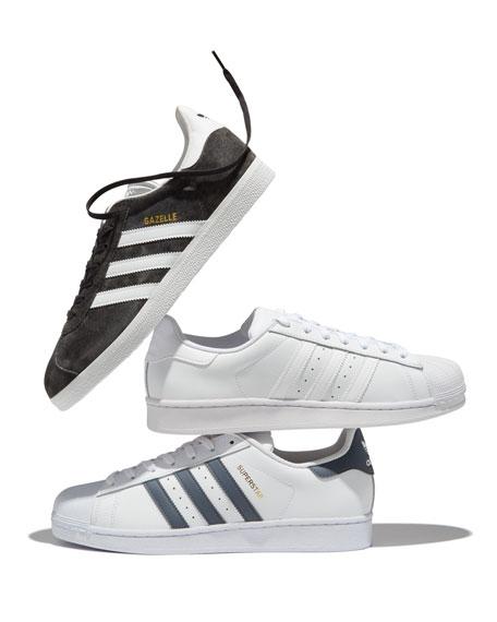 Men's Gazelle Original Suede Sneakers, Gray