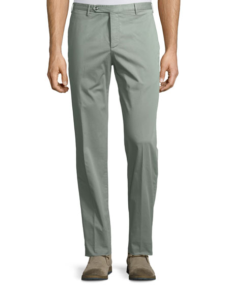 Zanella Parker Cotton-Stretch Flat-Front Trousers