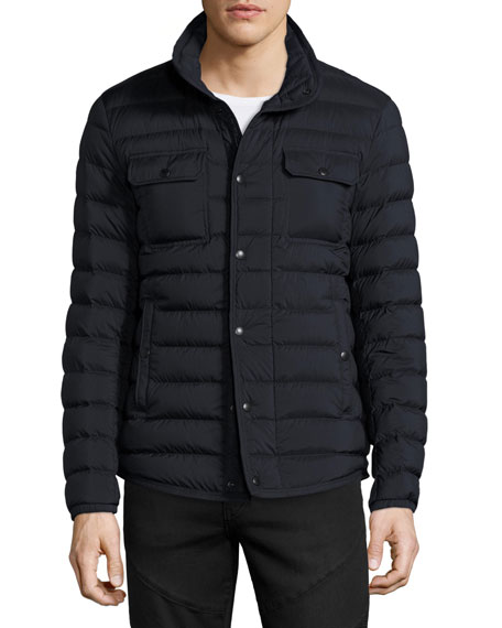 Faust Puffer Shirt Jacket, Navy