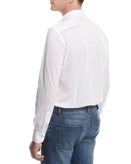 Piqué Knit Oxford Shirt, White