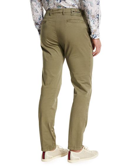 Flat-Front Chino Trousers, Khaki