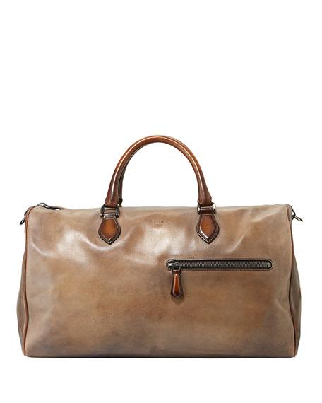 Berluti Jour-Off MM Large Leather Duffel Bag
