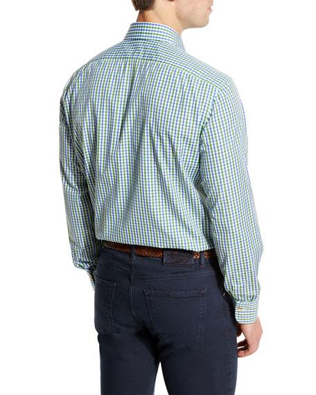 Check Pocket Sport Shirt, Green/Blue
