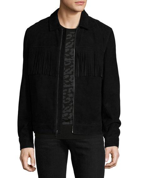 Suede Jacket w/ Fringe