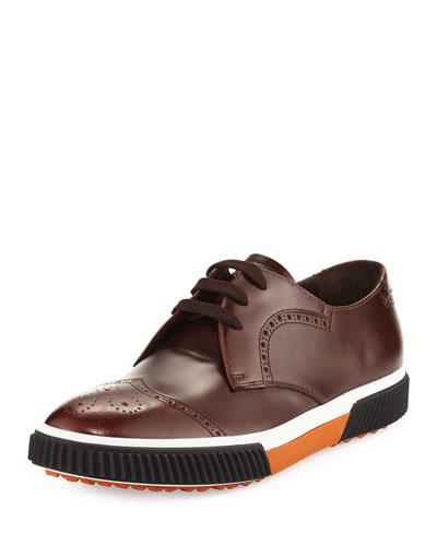 Wing-Tip Dress Sneaker, Brown