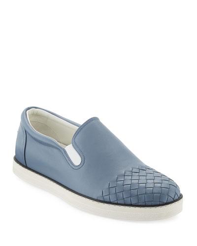 Woven-Toe Leather Skate Shoe
