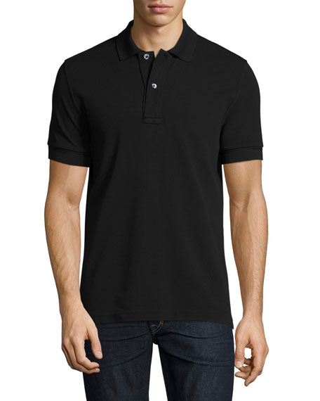 Pique Polo Shirt, Black