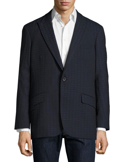 Robert Graham Grissom Alien Jacquard Two-Button Sport Coat,