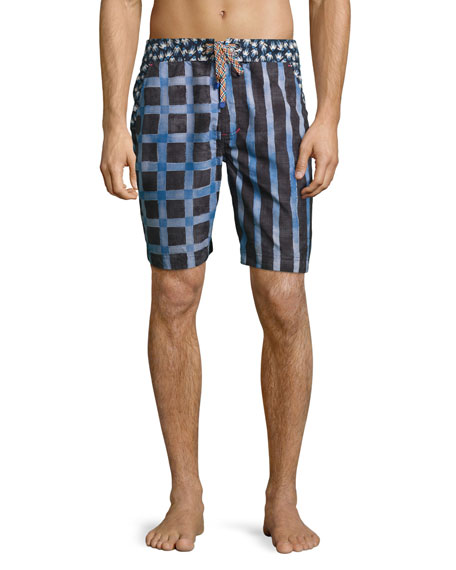 Robert Graham Density Swim Trunks, Multicolor