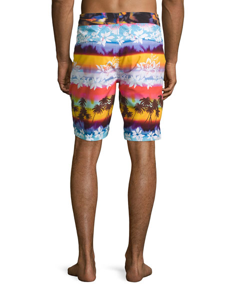 Earth Orbit Swim Trunks, Multicolor