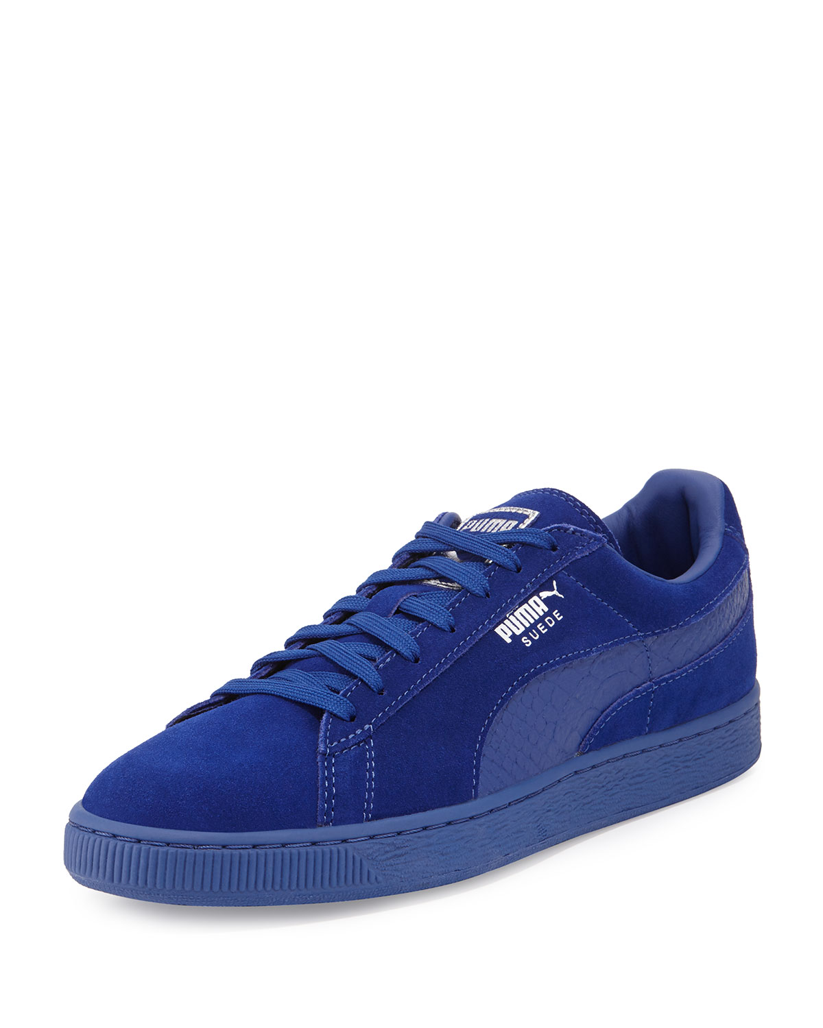 best cheap 3ed81 c7e18 Men's Suede Classic Mono Reptile Sneakers, Royal Blue
