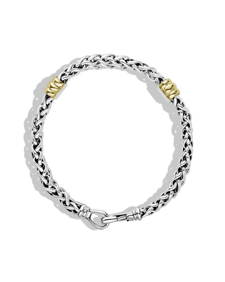 Two-Station Chain Bracelet with Gold