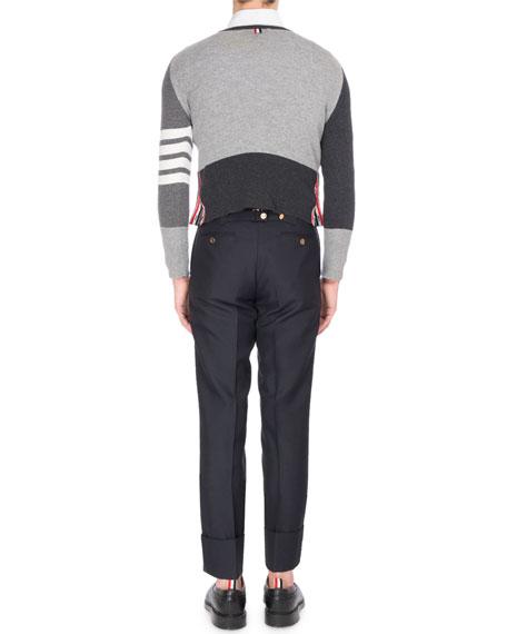 Mix-Knit Cashmere Sweater