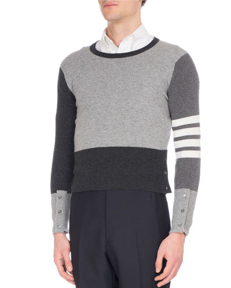 Thom Browne Mix-Knit Cashmere Sweater