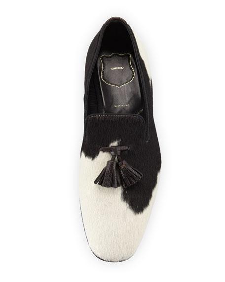 Calf Hair Tassel-Front Loafer