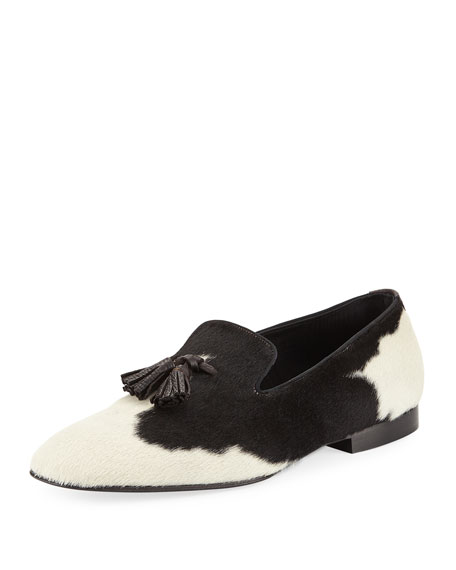 TOM FORD Calf Hair Tassel-Front Loafer