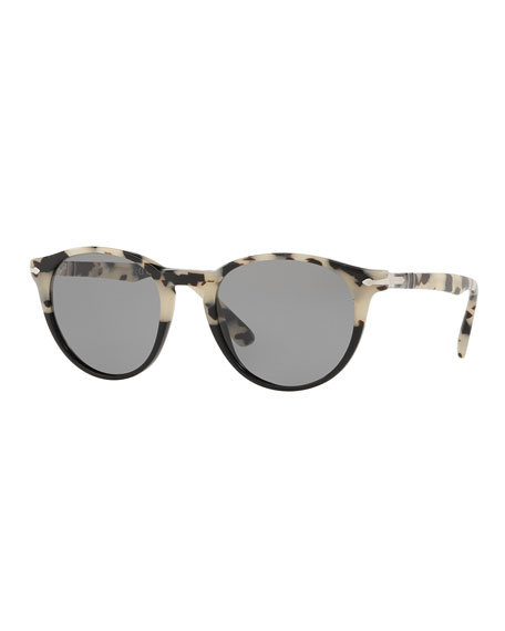 Persol Men's PO31525 Round Acetate Sunglasses