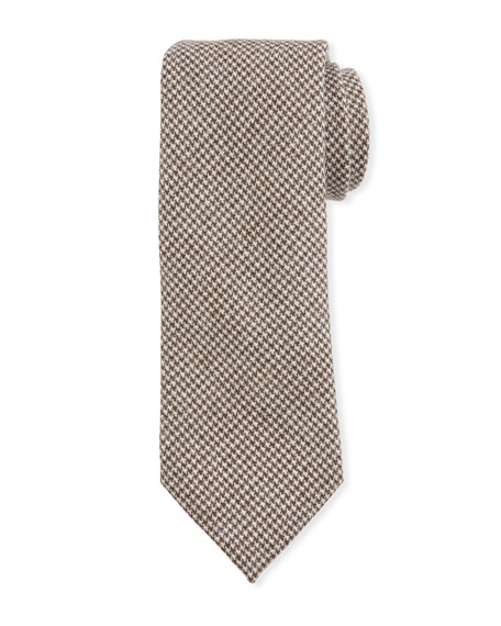 Petronius 1926 Men's Small Houndstooth Wool Tie