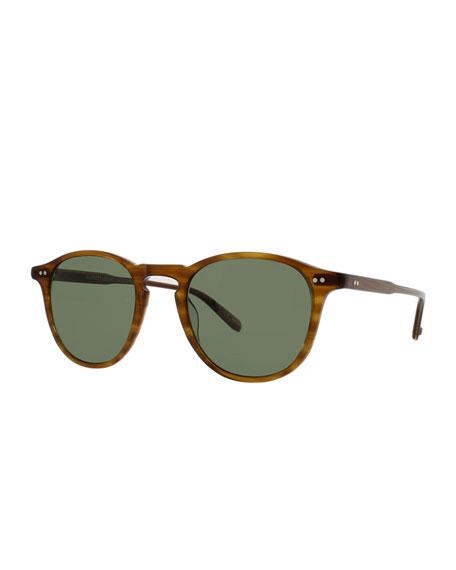 Garrett Leight Men's Hampton Round Polarized Acetate Sunglasses