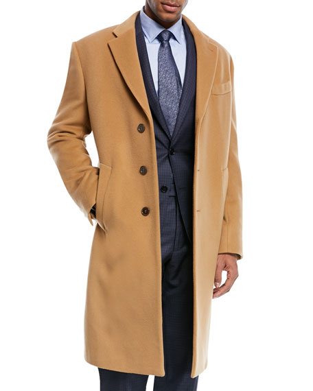 Armani Collezioni Wool & Cashmere Single-Breasted Topcoat