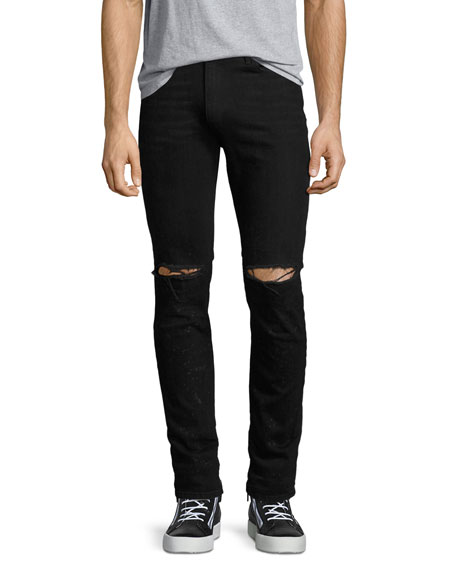 OS-1Slim-Fit Distressed Denim