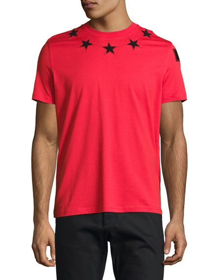 Givenchy Cuban-Fit Star-Appliqu?? T-Shirt, Red