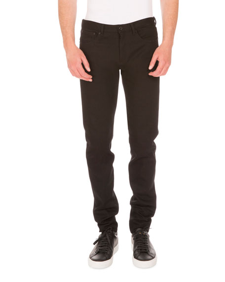 Rico Slim-Fit Jeans w/Star Patches, Black