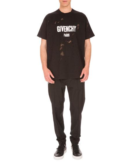 Zip-Pocket Jogger Pants, Black