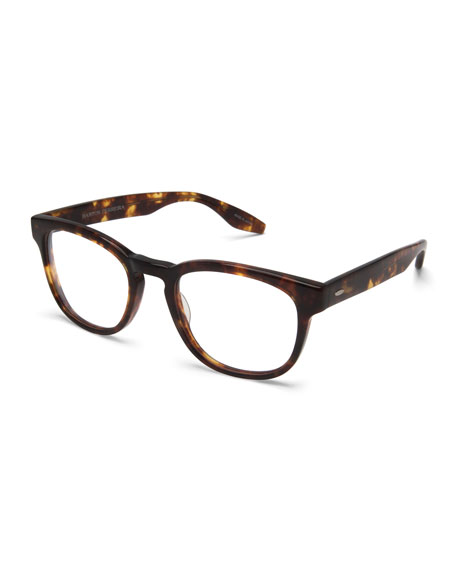 Men's Byron Universal Fit Square Optical Frames, Chestnut