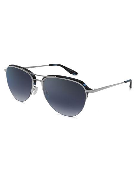 Men's Airman Half-Rim Aviator Sunglasses