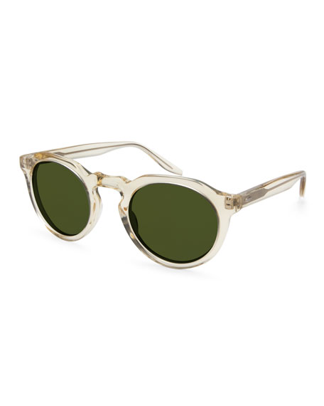 Barton Perreira Men's Ascot Universal Fit Round Sunglasses,