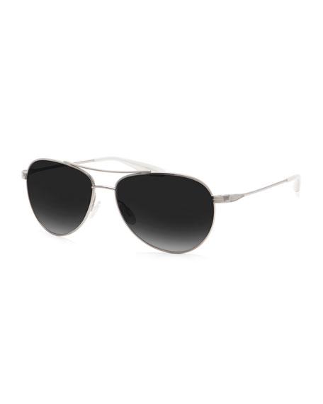 Barton Perreira Men's Lovitt Polarized Metal Aviator Sunglasses,