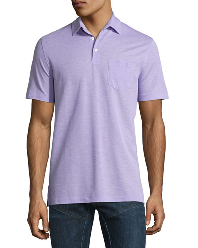 Melange Polo Shirt, Lavender
