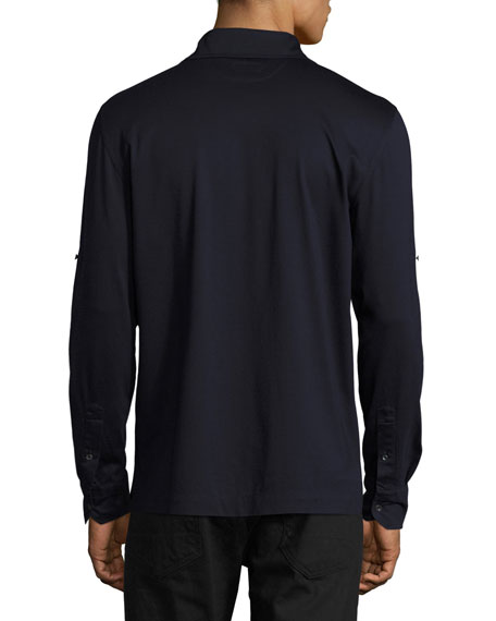 Jersey Pocket Shirt, Navy